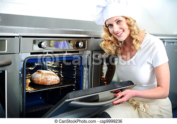 panadero, puerta, horno, bastante, Apertura - csp9999236