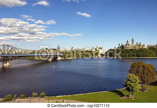 canadá, fairmont, edifícios, parlamento, augustus, 8:, –, ottawa - csp10271110