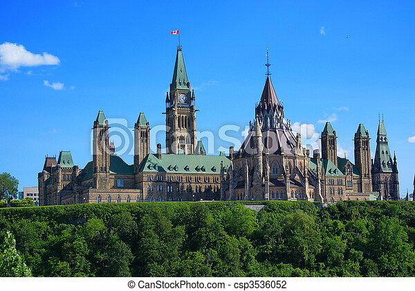 canadá, parlamento, -, colina, ottawa - csp3536052