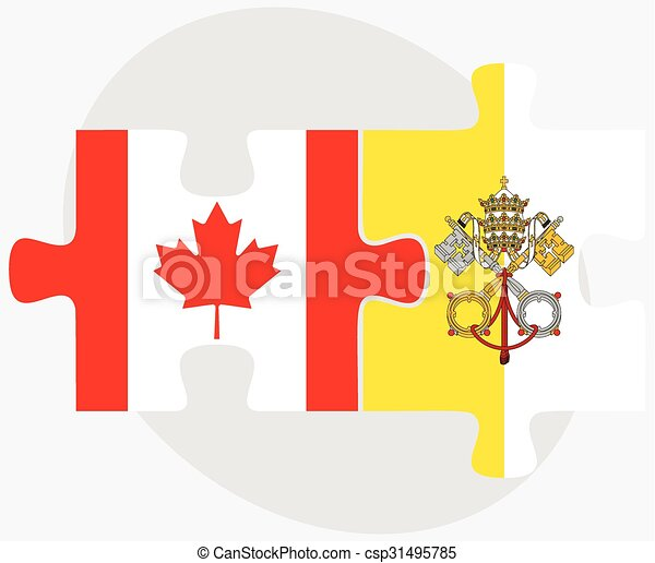 Canada and Holy See - Vatican City State Flags - csp31495785