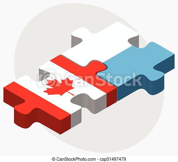 Canada and San Marino Flags - csp31497479