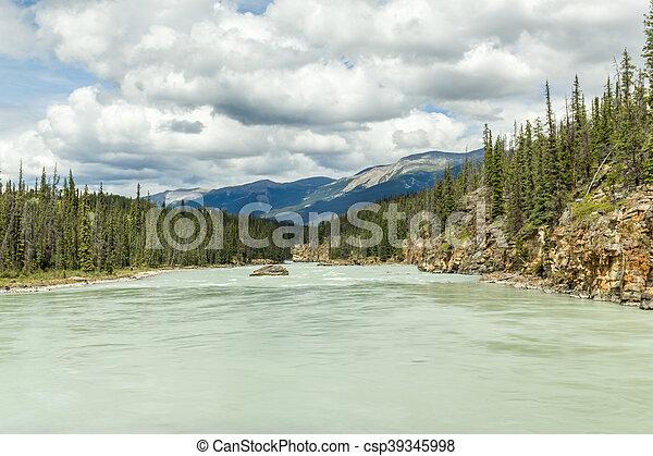 canada, athabaska, parco nazionale, diaspro, alberta, fiume - csp39345998