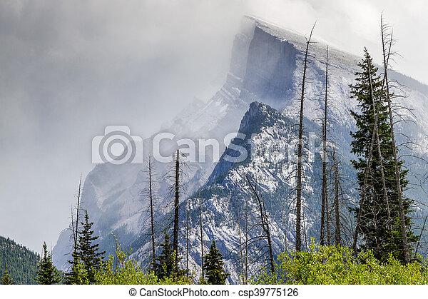 canada, banff, nazionale, -, parco, alberta, monte, rundle - csp39775126