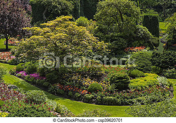 Canada Colombie Jardin Britannique Victoria Canada Ete