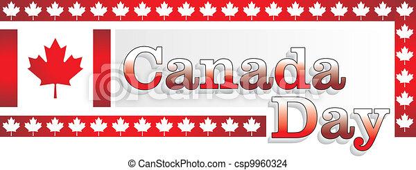 Canada day vector design - csp9960324