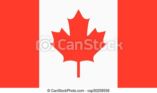 canada Flag for Independence Day and infographic Vector illustration. - csp30258558