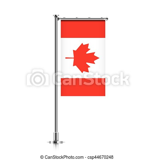Canada Flag Hanging On A Pole