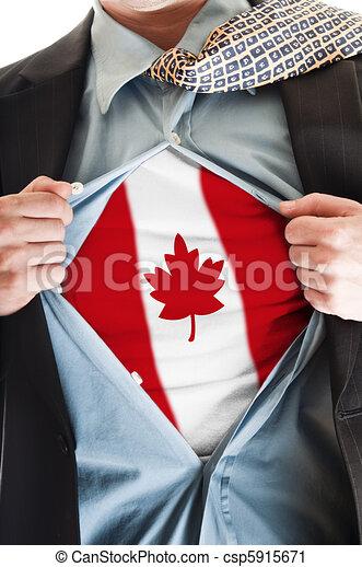 Canada flag on shirt - csp5915671