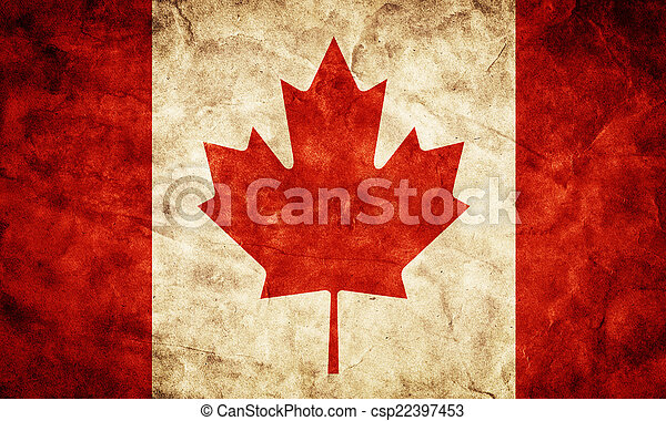 Canada grunge flag. Item from my vintage, retro flags collection - csp22397453