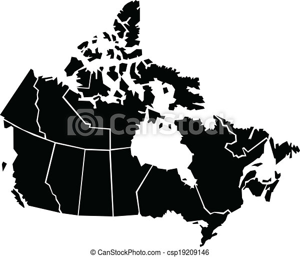Map Of Canada Eps.Canada Map Chunky Cartoon Map Of Canada Map Source Http Www Lib
