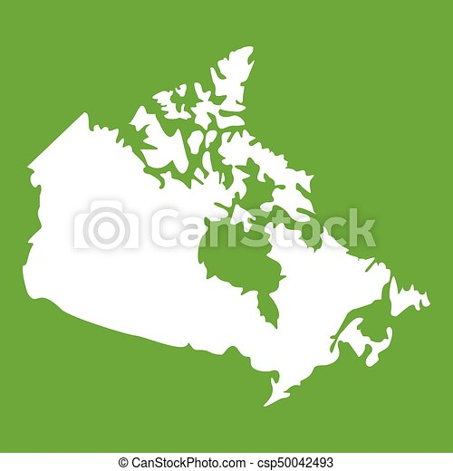 Canada map icon green canada map icon white isolated on eps canada map icon green csp50042493 gumiabroncs Gallery