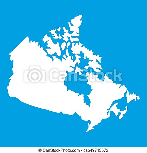 Canada map icon white isolated on blue background illustration canada map icon white csp49745572 gumiabroncs Choice Image