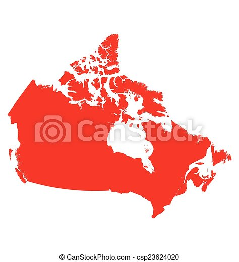 Canada map Detailed map of canada isolated on white vector