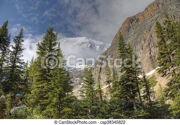 canada, montagne, estate, nazionale, -, presto, parco, diaspro - csp38345822