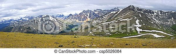 canada, montagne, roccioso, panorama, parco nazionale, diaspro - csp5026084