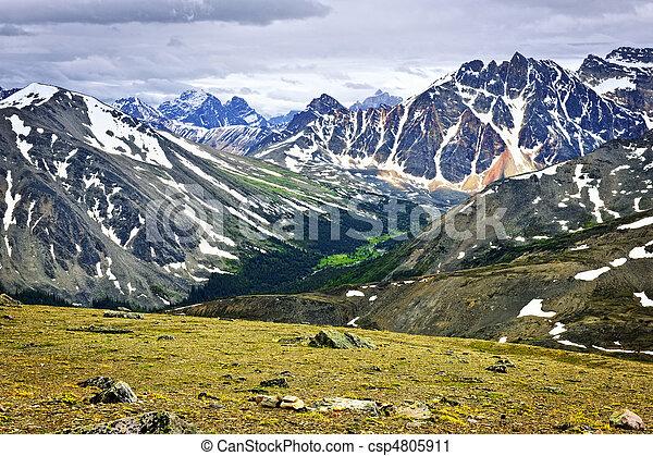 canada, montagne, roccioso, parco nazionale, diaspro - csp4805911