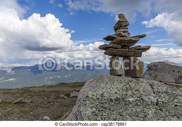 canada, nazionale, -, inukshuk, parco, diaspro - csp38178861