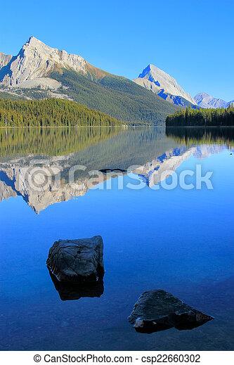 canada, nazionale, lago, parco, diaspro, alberta, maligne - csp22660302