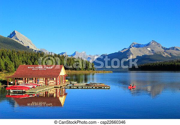 canada, nazionale, lago, parco, diaspro, alberta, maligne - csp22660346