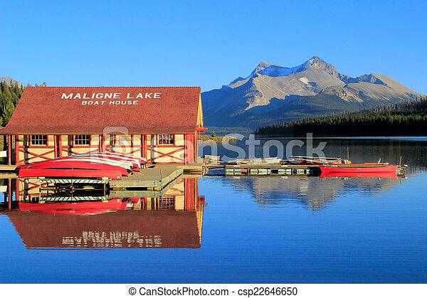canada, nazionale, lago, parco, diaspro, alberta, maligne - csp22646650