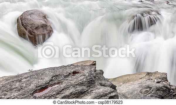 canada, nazionale, -, parco, cascata, diaspro - csp38179523