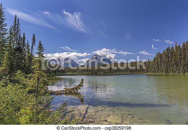 canada, -, parco nazionale, lago, diaspro, piccolo, alberta - csp38259198