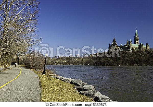 canada, parlement, ottawa, colline - csp16389673