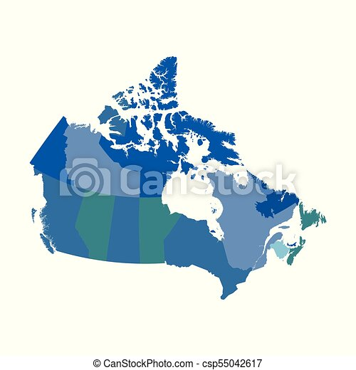 Canada political vector map vector clip art Search Illustration