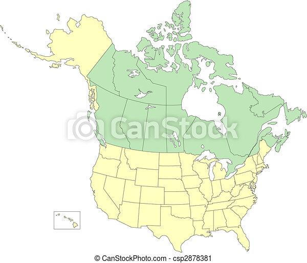 canada, provinces, usa, etats - csp2878381