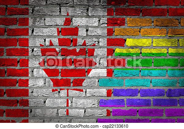 canada, rechten, muur, -, donker, lgbt, baksteen - csp22133610