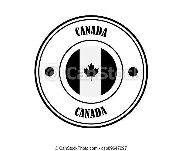 canada round stamp - csp89647297