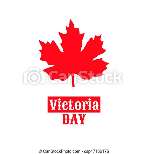 Canada Victoria Day May 22 Vector Illustration With Maple Leaf