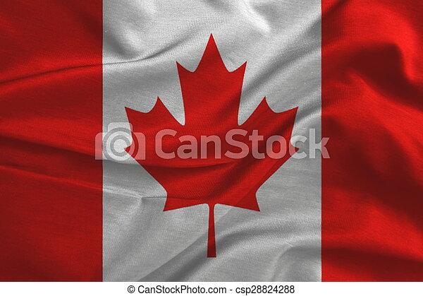 canada vlag, zijden fabric - csp28824288