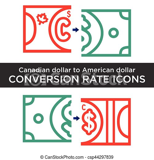 canadian and american dollar exchange vectors search clip art rh canstockphoto com