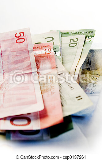Canadian Bills - csp0137261