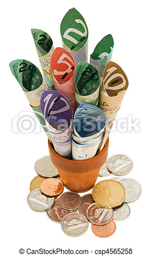 Canadian cash and coins - csp4565258
