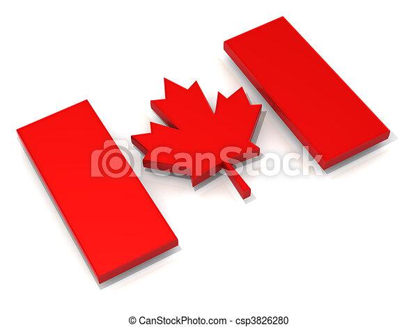 Canadian flag - csp3826280