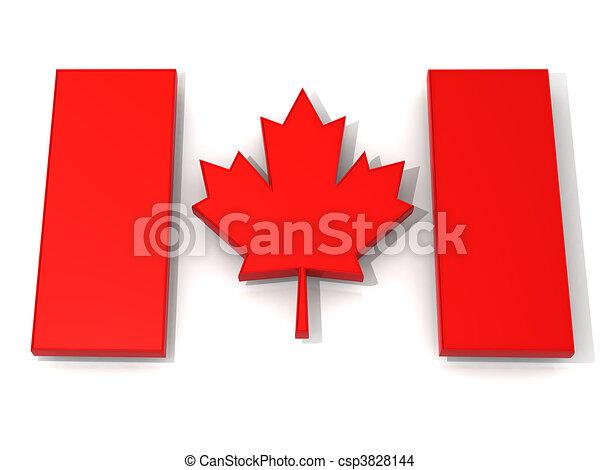Canadian flag - csp3828144