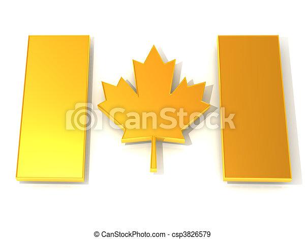 Canadian flag - csp3826579