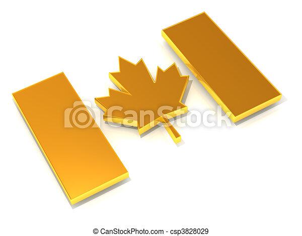 Canadian flag - csp3828029