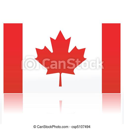 Canadian flag - csp5107494