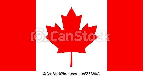 Canadian flag, flat layout, vector illustration - csp58873963
