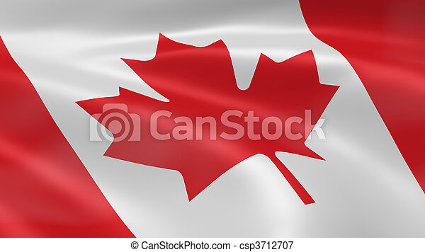 Canadian flag in the wind - csp3712707