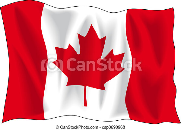 canadian flag canadian wavy flag isolated on white stock rh canstockphoto com canada flag border clip art canada flag clipart