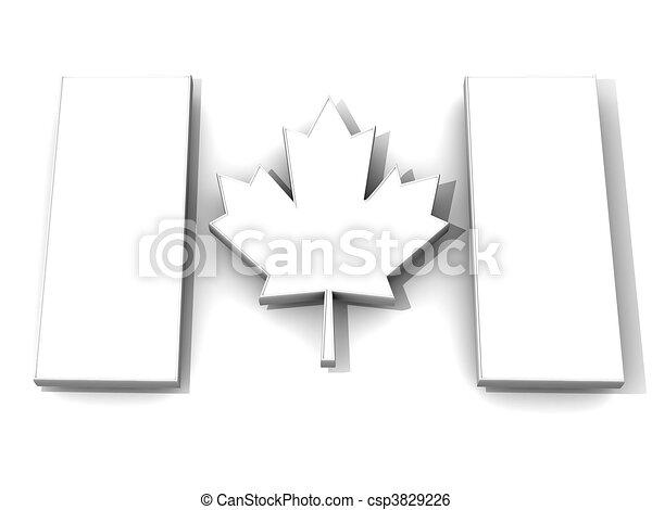 Canadian flag - csp3829226