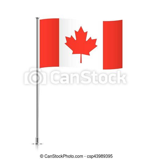 Flag Template | Canadian Flag Waving On A Metallic Pole Canada Vector Flag Template