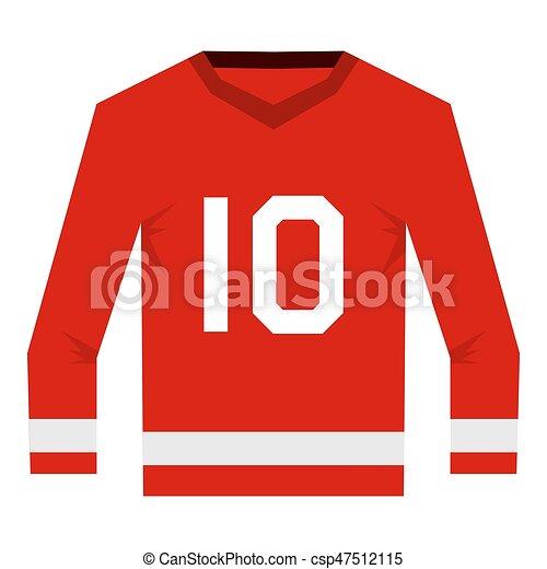 Canadian Hockey Jersey Icon Isolated Red Canadian Hockey Jersey