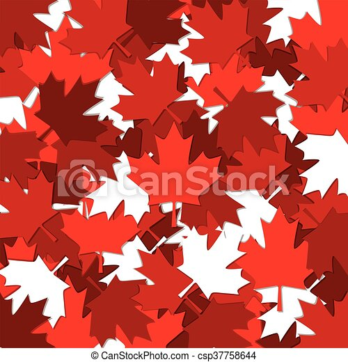 Canadian Maple Leaf Scatter Pattern In Vector Format Stunning Maple Leaf Pattern