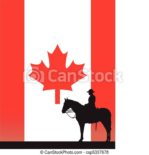 canadian mountie the silhouette of a canadian mounted vector rh canstockphoto com