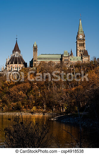 Canadian Parliament Buildings on Parliament Hill - csp4918538